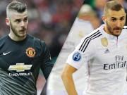 """Bóng đá Tây Ban Nha - Gạt Bale, MU quyết """"thí"""" De Gea lấy Benzema"""