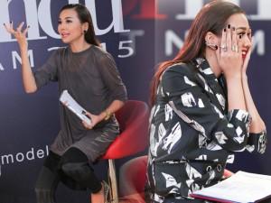 """Người mẫu - Hoa hậu - 1001 biểu cảm """"khó đỡ"""" của Thanh Hằng trên ghế nóng"""