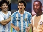 Các giải bóng đá khác - Argentina: Messi trước cái dớp của Pele, Maradona