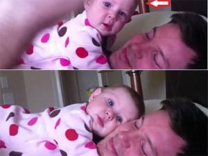 """Bạn trẻ - Cuộc sống - Clip: Bé gái bị bố """"thôi miên"""" cực dễ thương"""