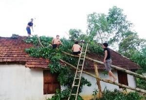 """Tin tức trong ngày - Hà Tĩnh: Lốc xoáy, hàng trăm ngôi nhà tốc mái trong """"chớp mắt"""""""