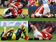 """Bóng đá - MU và Arsenal """"vô đối"""" NHA về chấn thương"""