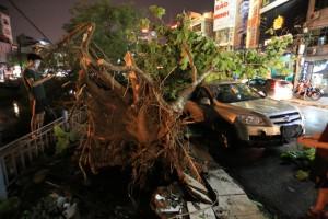 Tin tức Việt Nam - Ảnh: Giông lốc kinh hoàng, giao thông Hà Nội nhiều nơi tê liệt