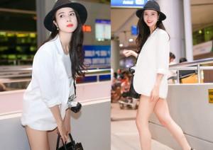 """Ngôi sao điện ảnh - Vũ Ngọc Anh khoe chân dài với mốt """"không quần"""""""