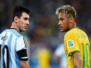 Các giải bóng đá khác - Brazil thắng khổ: Khi Neymar hay hơn Messi