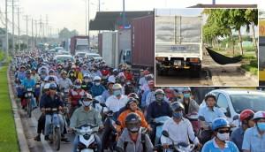 Tin tức Việt Nam - Tài xế cột võng nằm ngủ chờ hết kẹt xe ở Sài Gòn