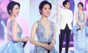 """Ngôi sao điện ảnh - Lưu Diệc Phi khoe """"gò bồng đảo"""" trắng nõn bên Song Seung Hun"""