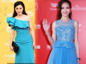 """Thời trang - 5 mỹ nhân Hoa ngữ """"xấu mặt"""" vì bị tố mặc váy nhái"""