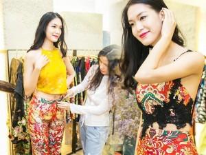Thời trang - Hoa hậu Thùy Dung đẹp yêu kiều với áo yếm gấm