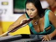 """Billard - Snooker - Nữ cơ thủ đẹp mê hồn """"đốn tim"""" cánh mày râu"""