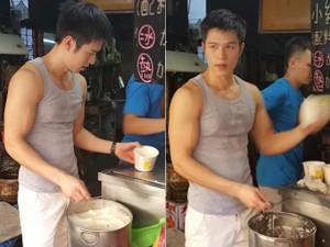 Bạn trẻ - Cuộc sống - Chàng trai bán tào phớ nóng bỏng nhất Đài Loan