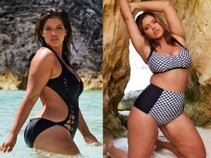 """Thời trang - Người mẫu mập tự tin mặc bikini khoe da """"sần vỏ cam"""""""