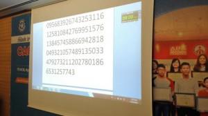 """""""Cao thủ trí nhớ"""" ghi nhớ, đọc dãy 300 số trong 15 phút"""