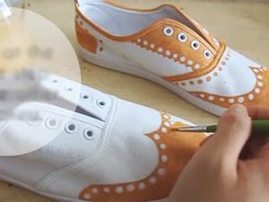 Thời trang - Tự chế giày Oxford sành điệu từ giày bata