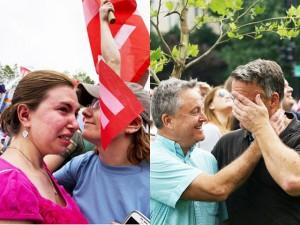 Les & Gay - Người đồng tính Mỹ khóc vì hạnh phúc