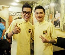 Khắc Việt và Hoàng Rapper đi bán bún đậu gây quỹ từ thiện