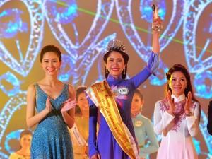 """Thời trang - """"Bản sao Đặng Thu Thảo"""" lên ngôi Hoa khôi Đồng bằng SCL 2015"""