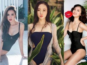 Thời trang - Mỹ nhân Việt khoe dáng bốc lửa với bikini một mảnh