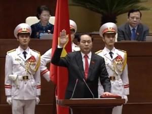 Tin tức trong ngày - Ông Trần Đại Quang tuyên thệ nhậm chức Chủ tịch nước