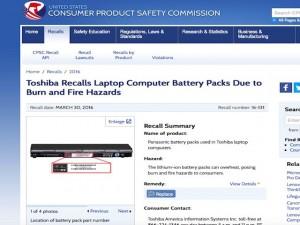 Công nghệ thông tin - Pin laptop Toshiba quá nhiệt, có mùi khét cần được thu hồi