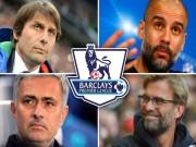 """Bóng đá - """"Đại chiến"""" Ngoại hạng: Conte đấu Mourinho, Pep, Klopp"""