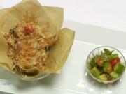 Ẩm thực - Thơm nức mũi thịt ba rọi xông khói cuộn thịt gà