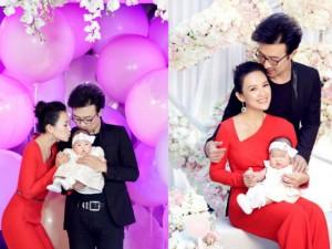 Đại tiệc xa hoa mừng 100 ngày con gái Chương Tử Di