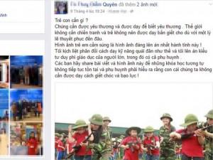 Tin tức trong ngày - Sốc với hình ảnh dạy học sinh tiểu học cầm súng