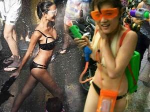 Thời trang - Bikini, soóc ngắn đẫm nước ngập tràn phố Thái Lan