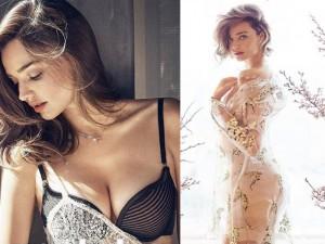 Thời trang - Miranda Kerr đầy mê hoặc với nội y và váy trong suốt