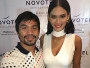 Thể thao - Pacquiao đắm đuối bên Hoa hậu Hoàn vũ ngày trở về