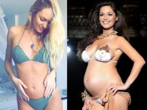 Thời trang - Quyến rũ như người mẫu bầu mặc bikini