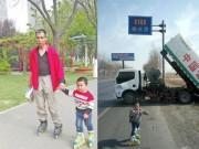 Bạn trẻ - Cuộc sống - Người cha dạy con học cách kiên trì bằng trượt patin