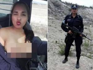 """Thế giới - Mexico: Chụp """"tự sướng"""" ngực trần, nữ cảnh sát gặp vạ"""