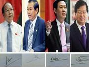 Tin tức trong ngày - Giới thiệu chữ ký của Thủ tướng và 3 Phó Thủ tướng