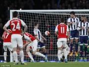 Video bóng đá hot - Video đầy đủ trận Arsenal - West Brom đá bù vòng 30 NHA