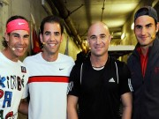 Thể thao - Video kinh điển: Federer yêu cầu 182 km/h, Agassi đánh 183 km/h