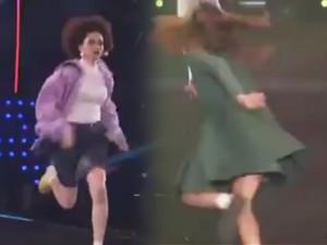 Chết cười xem người mẫu chạy hùng hục trên sàn diễn
