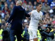 Bóng đá - Ronaldo chấn thương, Zidane vẫn phớt lờ James Rodriguez
