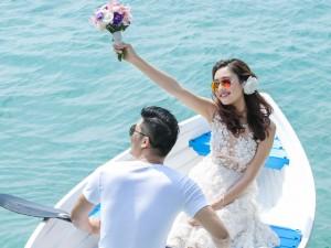 Bộ ảnh cưới tuyệt đẹp của á khôi Người đẹp Kinh Bắc