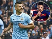 Bóng đá - Ghi bàn như máy, Suarez vẫn bị chê thua kém Aguero