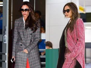 Thời trang - Victoria Beckham mặc thời trang sân bay đẹp nhất