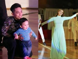 Ca nhạc - MTV - Con trai Khánh Thi thích thú xem bố mẹ khiêu vũ