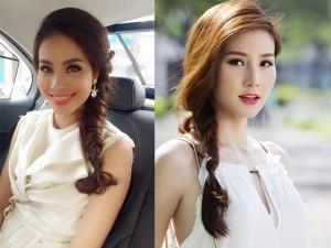 """Tóc bím lệch năng động, nữ tính  """" mê hoặc """"  mỹ nhân Việt"""