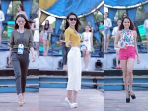 Thời trang - Thí sinh Hoa hậu Biển hăng say tập trước thềm bán kết
