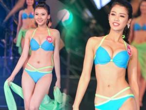 """Thời trang - Thí sinh Hoa hậu Biển thi bikini """"đốt nóng"""" Tuần Châu"""