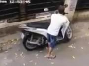 An ninh Xã hội - Trộm bẻ khóa, 'cuỗm' xe máy SH trong vòng 10 giây