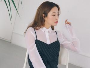 Thời trang - Diện áo hai dây sành điệu như gái ngoan thành thị