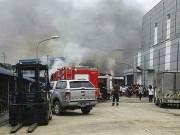 Cháy tại Vĩnh Phúc, nhiều người hoảng loạn