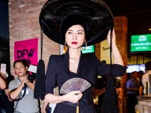 Thời trang - Ngô Thanh Vân đội nón quai thao, lạnh lùng tạo dáng